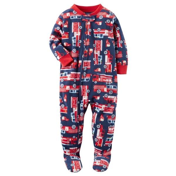 b3a5c8bd1 Shop Carter s Baby Boys  1 Piece Firetruck Fleece Pajamas