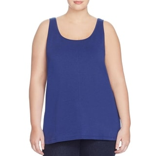 Nic + Zoe Womens Plus Tank Top Scoop Neck Sleeveless