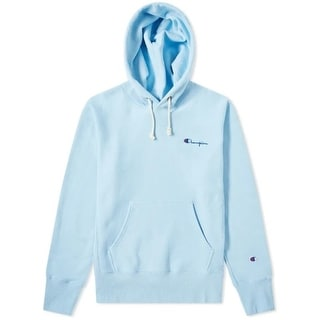 Link to Champion Reverse Weave Small Script Hoodie (Ocean Front Blue) Similar Items in Athletic Clothing