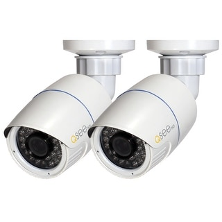 Q-See 2 Pack 4MP IP Bullet Security Cameras - White