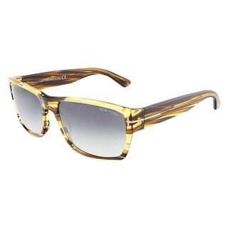 Tom Ford FT0445/S 50B MASON Havana Rectangular sunglasses - striped havana - 58-17-140