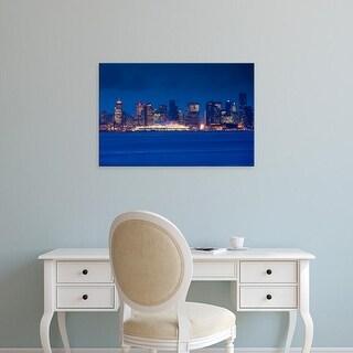 Easy Art Prints Walter Bibikow's 'Vancouver, city view form North Vancouver' Premium Canvas Art