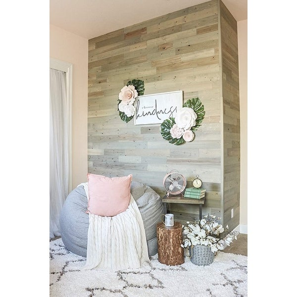 Timberchic Reclaimed Wooden Wall Planks - Peel and Stick Application (Driftwood). Opens flyout.