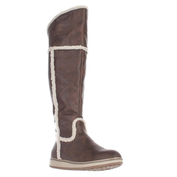 White Mountain Tomi Over The Knee Snow Boots, Cognac