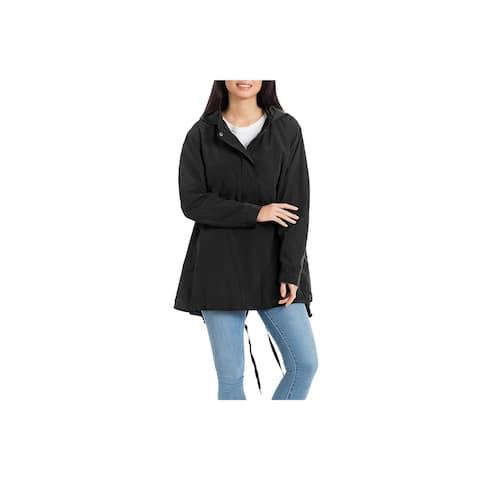 Bagatelle Womens Packable Rain Coat Water Repellent Hi-Low