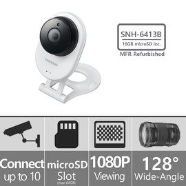 (Manufacturer Refurbished) SNH-E6413BMR - Samsung HD WiFi IP Camera with 16GB microSD Card
