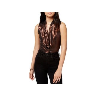 ASTR the Label Womens Bodysuit Metallic Sleeveless