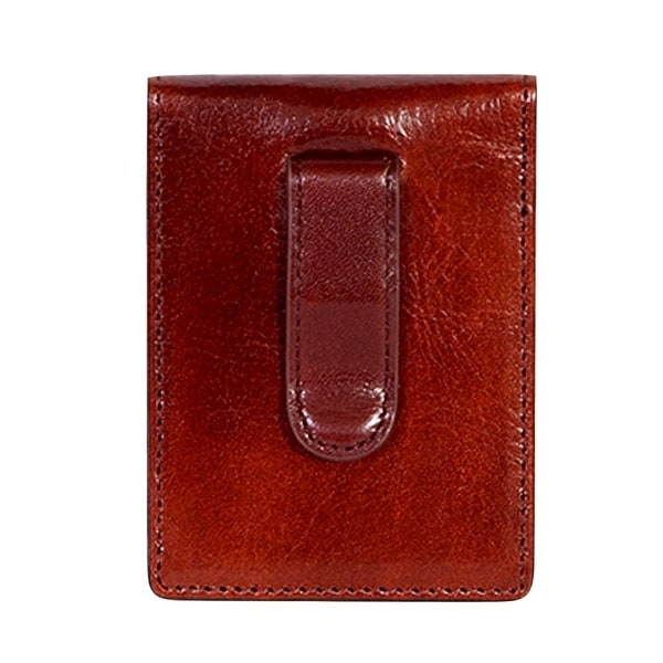 Scully Western Wallet Italian Leather Magnetic Clip Mahogany - One size