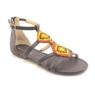 American Rag Beanie Women Open Toe Synthetic Black Gladiator Sandal