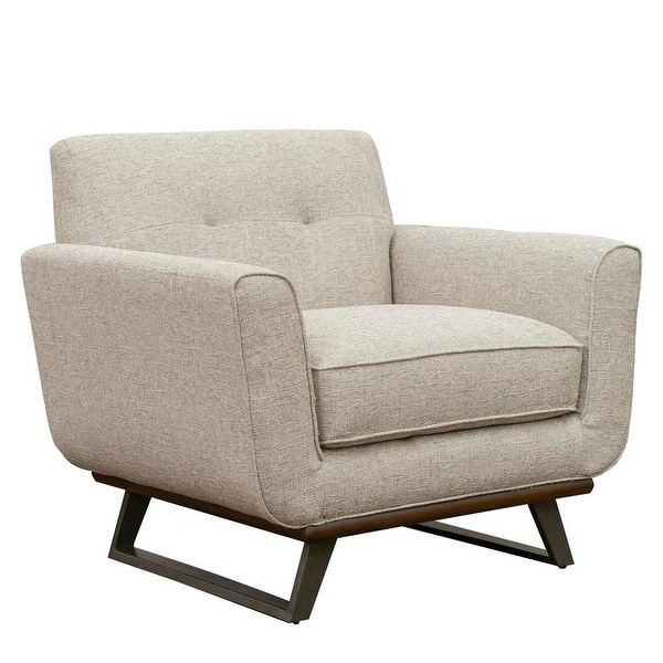 Willow Beige Tufted Mid-century Modern Chair. Opens flyout.