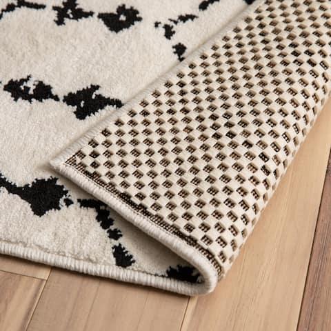 Non Slip Rug Pad Gripper for Area Rugs, Hard Floor Anti Skid Carpet Mat