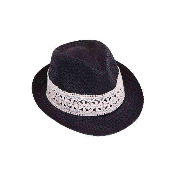 2abf2ed81de Shop Womens Straw Fedora Hat w/ Lace Band - Free Shipping On Orders ...