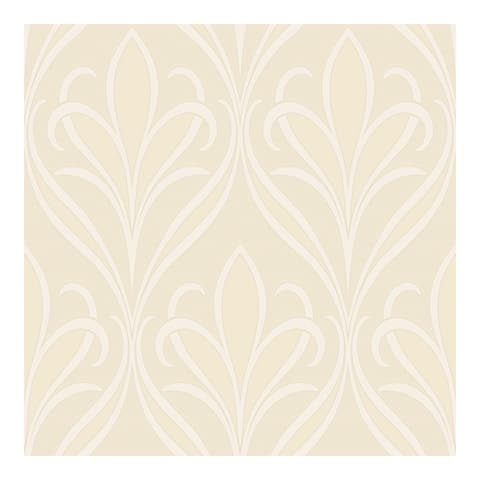 Vivian Neutral Nouveau Damask Wallpaper - 21 x 396 x 0.025