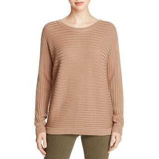 H. One Womens Pullover Sweater Ribbed Dolman Sleeves
