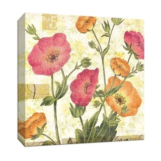 """PTM Images 9-153321  PTM Canvas Collection 12"""" x 12"""" - """"Reminiscence II"""" Giclee Flowers Art Print on Canvas"""