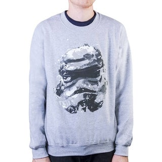 Mens Star Wars Stormtrooper Splatter Heather Grey Pullover - Heather Grey