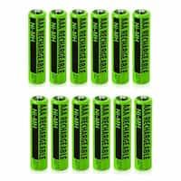 Replacement Battery For Panasonic KX-TG1031S / KX-TG6432T / KX-TG9 Phone Models (12 Pack)
