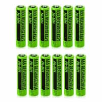 Replacement Panasonic KX-TGA106M NiMH Cordless Phone Battery - 630mAh / 1.2v (12 Pack)