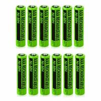 Replacement Panasonic KX-TGA660 NiMH Cordless Phone Battery - 630mAh / 1.2v (12 Pack)