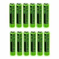 Replacement Panasonic KX-TGEA20B NiMH Cordless Phone Battery - 630mAh / 1.2v (12 Pack)