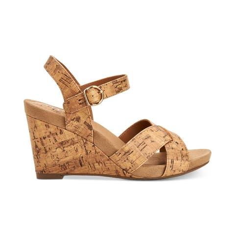 Style & Co. Womens Ferrnn Fabric Open Toe Casual Platform Sandals