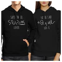 Stupid Lover Black Cute Matching Couple Gift Hoodies Pullover Top