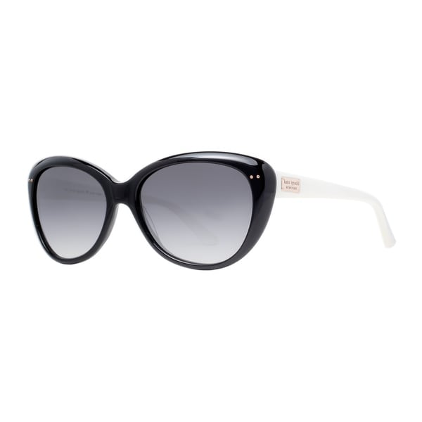 Kate Spade KS Angelique FU8 Y7 Black White/Gray Gradient Cat Eye Sunglasses - shiny black / white - 55mm-16mm-135mm