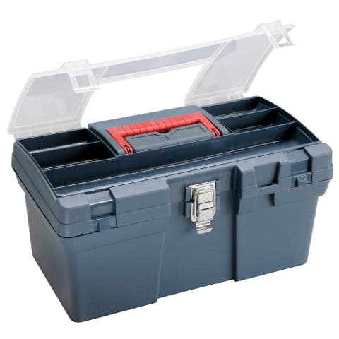 Heritage arts hpb1610 medium art blue tool box