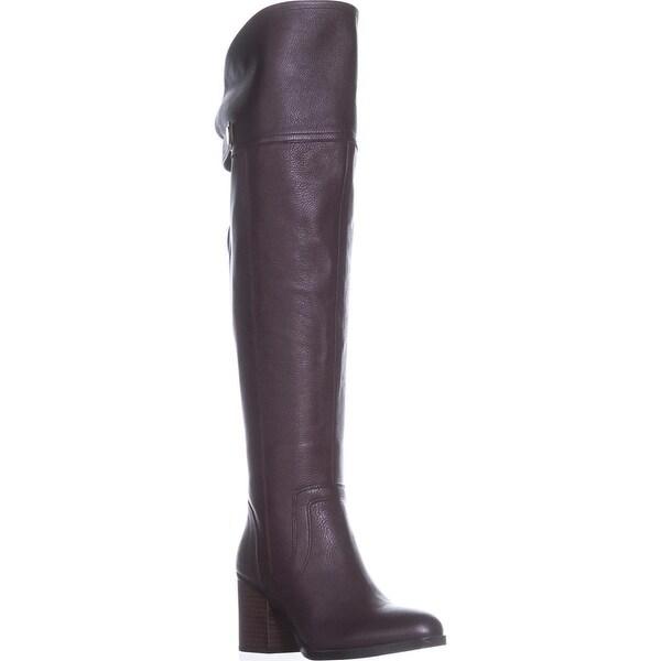 Franco Sarto Ollie Wide Calf Over-The-Knee Boots, Burgundy - 8 us / 38 eu