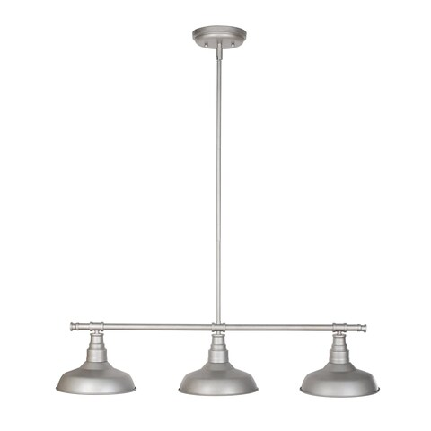 Design House 520379 Kimball 3 Light Dimmable Pendant in Galvanized Finish