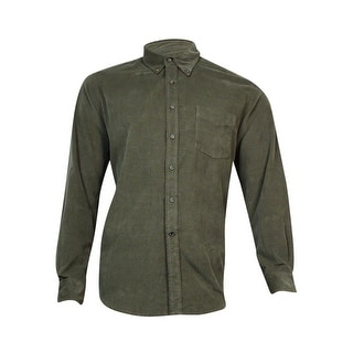 Club Room Men's Long-Sleeve Corduroy Shirt (Ash, M) - M