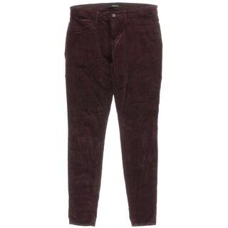 J Brand Womens Fraser Velveteen Mid-Rise Skinny Pants