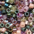 Miyuki Delica Seed Beads Mix 10/0 Lavender Garden Pink Green 8 GR - Thumbnail 0