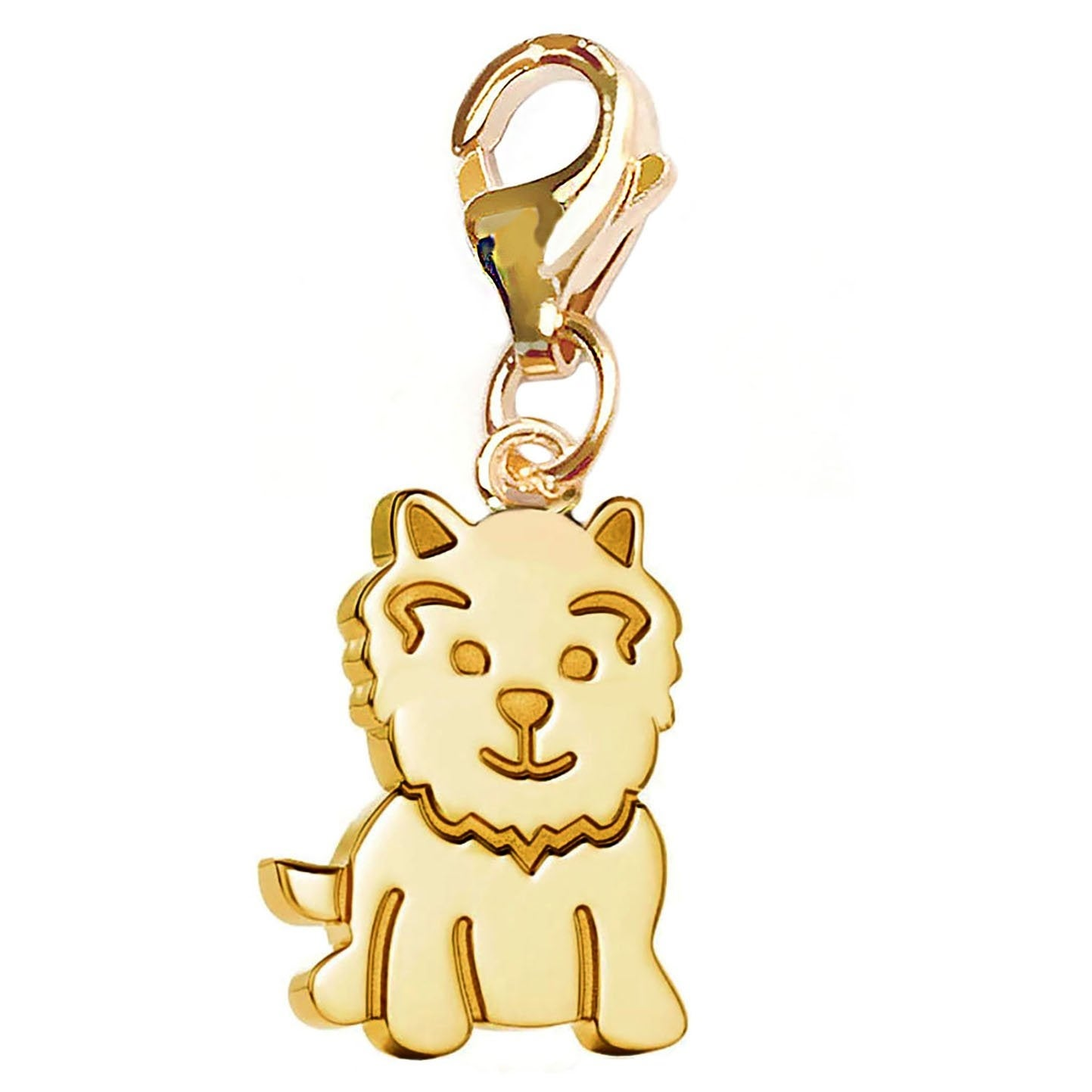 Julieta Jewelry Smily Dog Clip-On Charm - Thumbnail 0