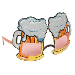 Pack of 6 Wearable Grey, Brown and Pink Mug Beer Shaped Glasses 6.5""