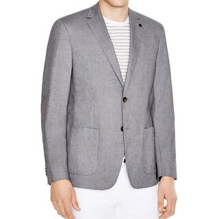 Michael Kors NEW Gray Midnight Mens Size 40 Two Button Chambray Blazer