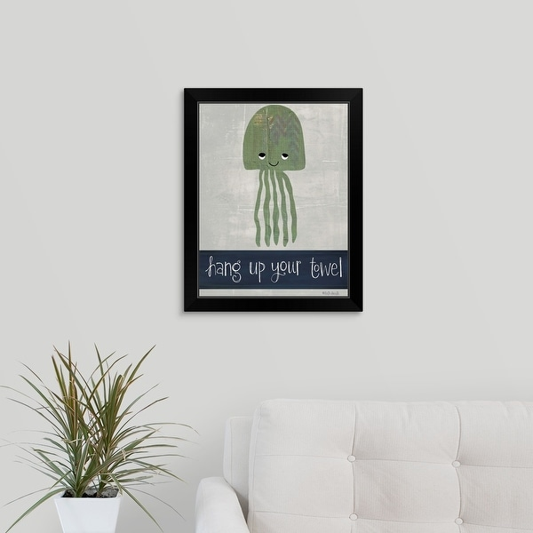 Katie Doucette Economy Framed Print with Standard Black Frame entitled Hang Up Your Towel