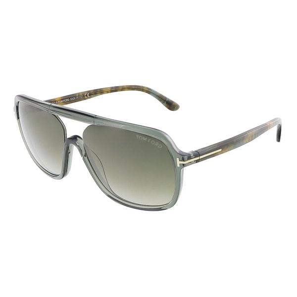 Tom Ford FT0442/S 96B ROBERT Dark Shiny Green Crystal Square sunglasses - dark shiny green crystal