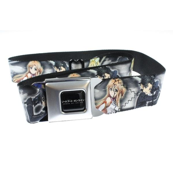 Sword Art Online Group Pose Seatbelt Belt (Clouds gray)-Holds Pants Up