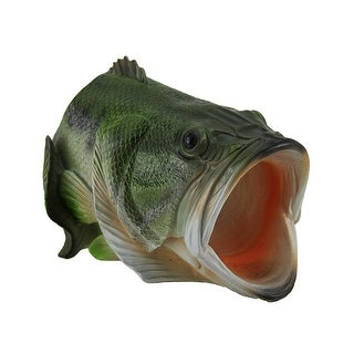 Large Mouth Bass Decorative Gutter Downspout Extension Statue - Green