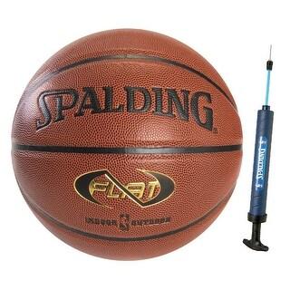 "Spalding Neverflat 29.5"" Indoor/Outdoor Basketball w/ 12"" Dual Action Pump"
