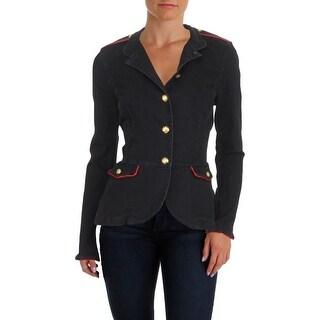 Lauren Ralph Lauren Womens Peplum Jacket Fall Denim