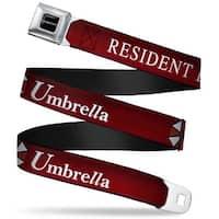 Resident Evil Full Color Black White Resident Evil Umbrella Red White Seatbelt Belt