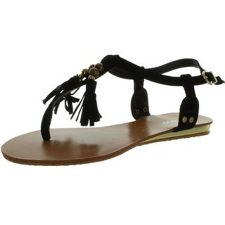 Bamboo Women Saili-05 Fringe Tassle Sandals