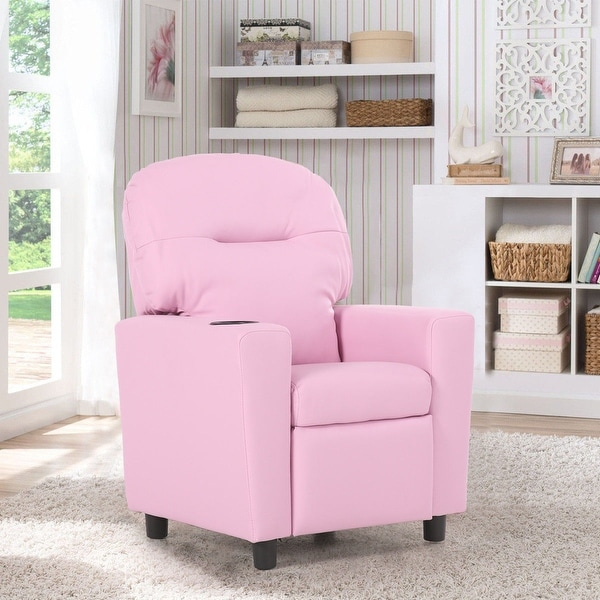 Shop Costway Kids Sofa Recliner Armrest Couch Children Living Room ...
