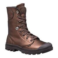 Palladium Women's Baggy Metallic Leather Boot Dark Copper/Chocolate