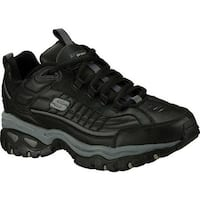 Skechers Men's Energy After Burn Sneaker Black Leather (BBK)
