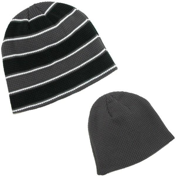CTM® Men's Waffle Knit Beanie Winter Skull Cap (Pack of 2)