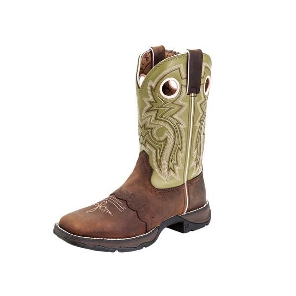 "Durango Western Boot Womens 10"" Rebel Saddle Rocker Meadow Lace"