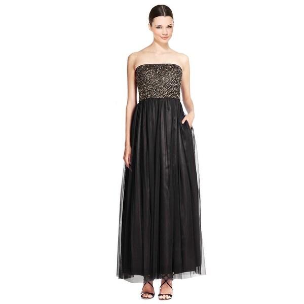 Shop Aidan Mattox Strapless Beaded Tulle Evening Gown Dress - 8 ...
